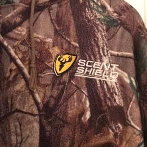 scent shield Shirts - Scent Shield Hooded Sweatshirt Camouflage